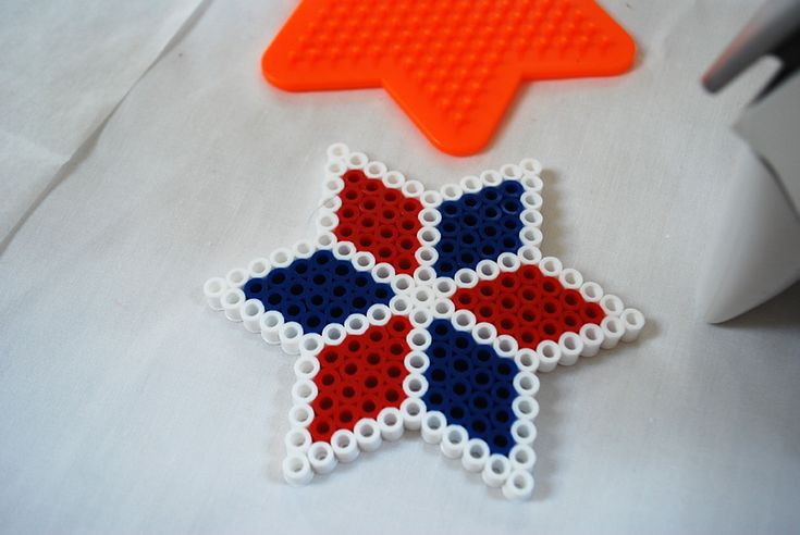 Fourth of July Kids Crafts - Perler Bead DIY Coasters