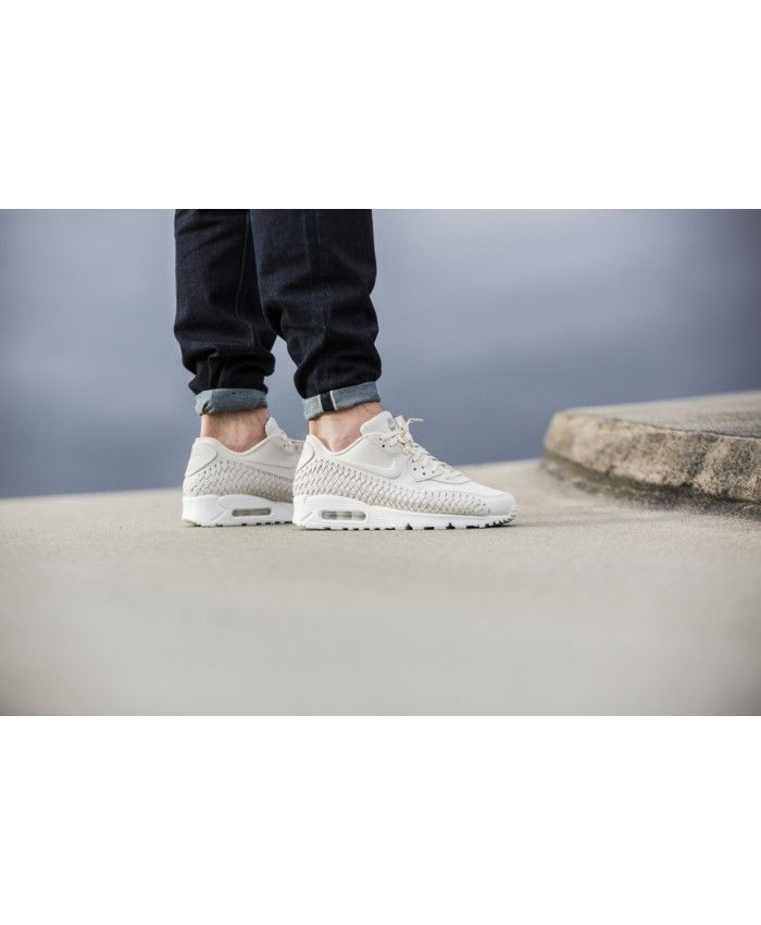 Air Max 90 Woven All White Trainer The latest style to do in the Nike online store, absolutely authentic.