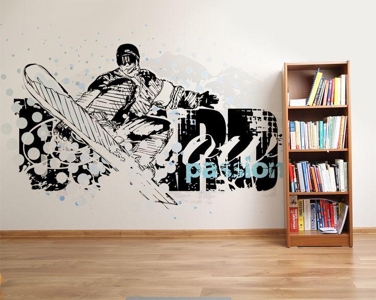Wallpaper Sticker SNOWBOARD by Sticky!!!