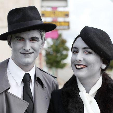 grayscale costume