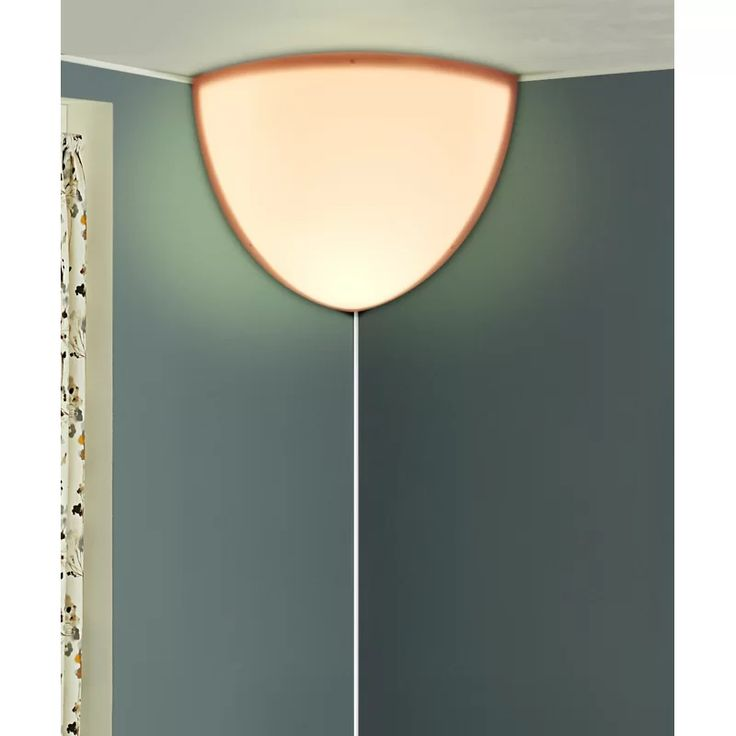 Johnna Heater Shield Beacon Series Triangle 1 Light Plug In Corner Wall Light In 2020 Wall Lights Apartment Lighting Corner Wall