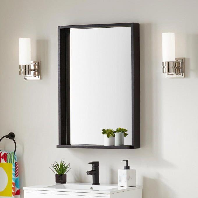 Kyra Vanity Mirror Black Bathroom, Black Mirrored Bathroom Cabinet