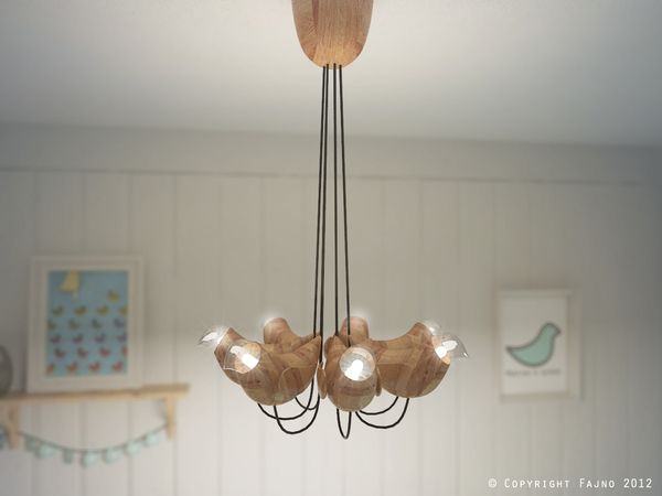 If It's Hip, It's Here: Marina's Birds. Modern Design Meets Folk Art In These Charming Tabletop and Suspended Ceiling Lights.
