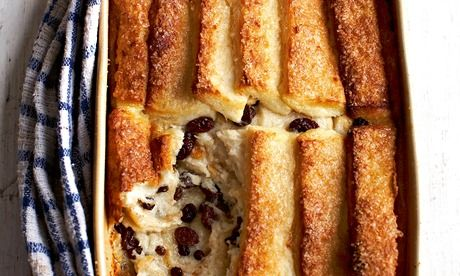 Mary Berry: My mother's bread and butter pudding. Photograph: Dan Jones