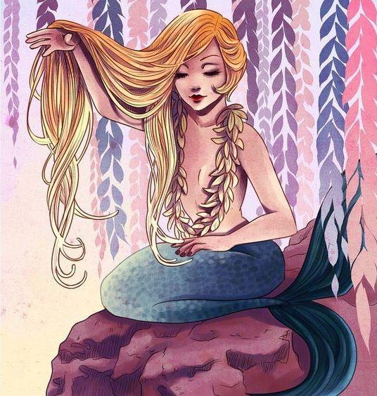 Marnie the fair haired mermaid.