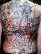haunted mansion tattoo | Haunted Mansion back piece Tattoo on Back