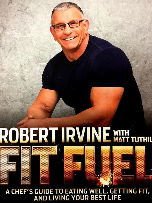 Robert Irvine in town for a book signing.