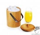 Balde de belo 3 litros em bambu personalizado. Ideal para festas e baladas. Tags: brindes Curitiba, brindes personalizados, brindes mkt, brindes empresas.