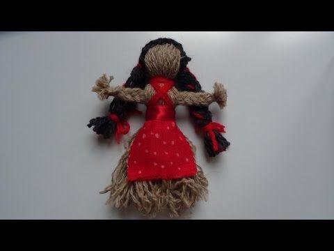 Видео мастер-класс: делаем своими руками куклу-мотанку из пряжи - Ярмарка Мастеров - ручная работа, handmade