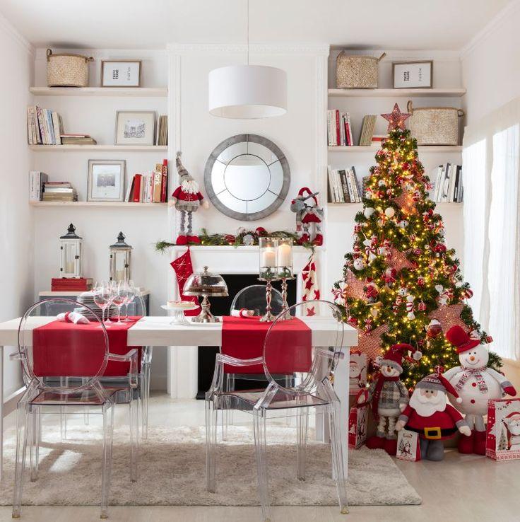 Prepara tu comedor para estas fiestas que llegan: apuesta por la tradicional combinación blanco y rojo y crea el ambiente perfecto para tus veladas navideñas