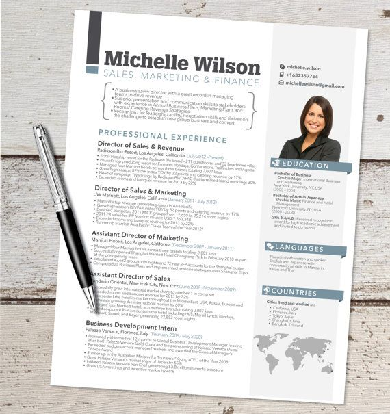 The Michelle Resume Design  Graphic Design  by VivifyCreative, $64.00