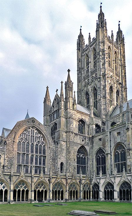 Canterbury Cathedral, Canterbury, Kent, England, is one of the oldest and most famous Christian structures in England. It forms part of a World Heritage Site.