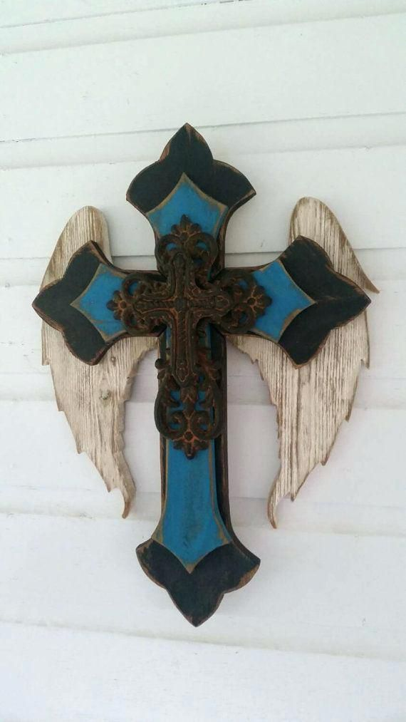 Wooden Cross Decor New Angel Wing Wall By Decoration Ideas Crosses Decor Cross Crafts Cross Wall Decor