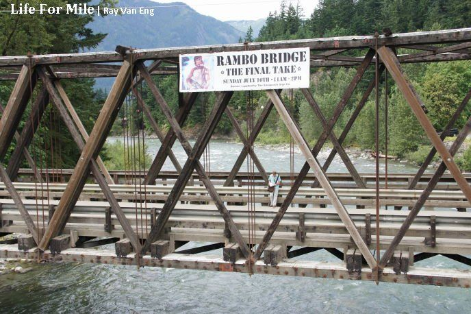 Kawkawa Bridge, Rambo Bridge Final Take in Hope BC Bid an Emotional Farewell with Nostalgic Fans As Actor Stephen Chang Promoted New Movie 'Life For Mile'. www.hopebc.ca