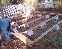 floating decks | ... how i made a floating deck the advantage of a floating deck is that it