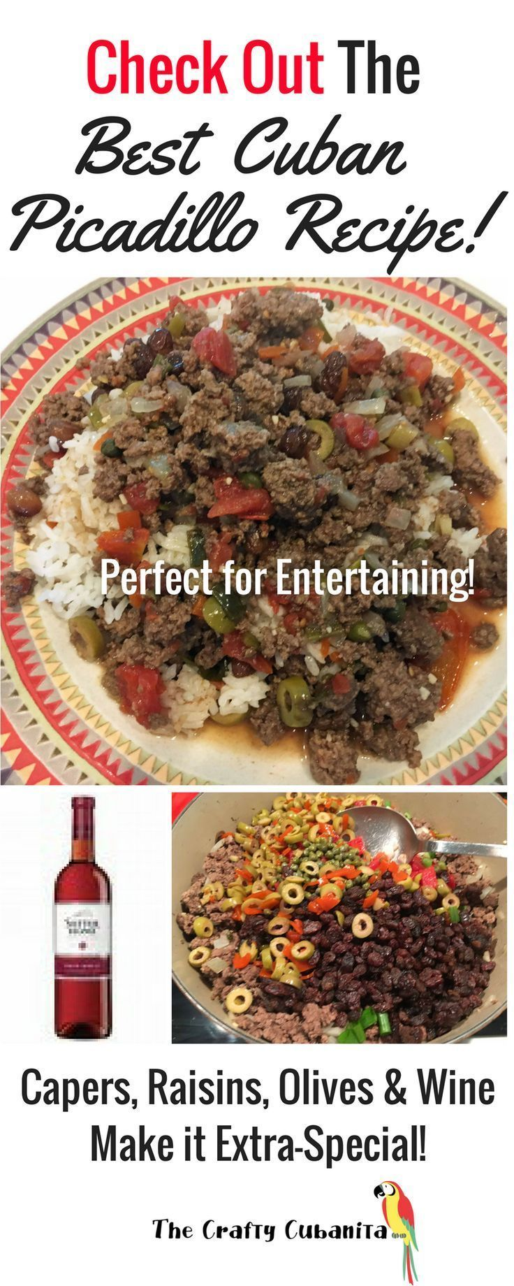 This is the Best Cuban Picadillo Recipe Ever!  Click through to find out how to make it!  http://thecraftycubanita.com/picadillo/  Authentic picadillo, authentic Cuban picadillo, Spanish picadillo recipe, cook picadillo, cuban cuisine, cuban beef dishes,