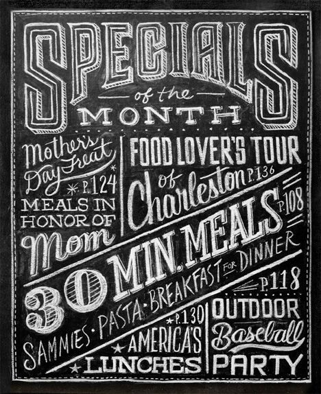 Graphic designer Dana Tanamachi does unique custom chalkboard lettering that's so precise and so gorgeous it will take your breath away.