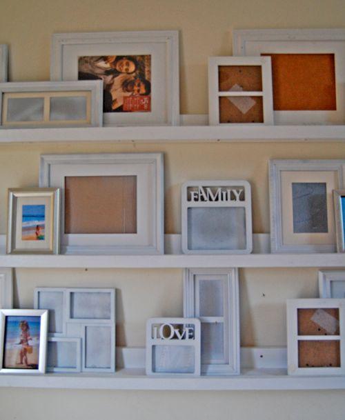 White Shelf Ledges- book storage greatly needed!