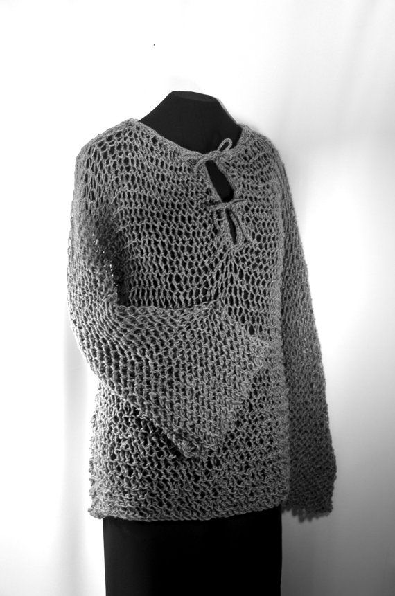 Faux chain mail shirt, a hand knit maille hauberk, for Ranger, LOTR and fantasy costumes and SCA cosplay