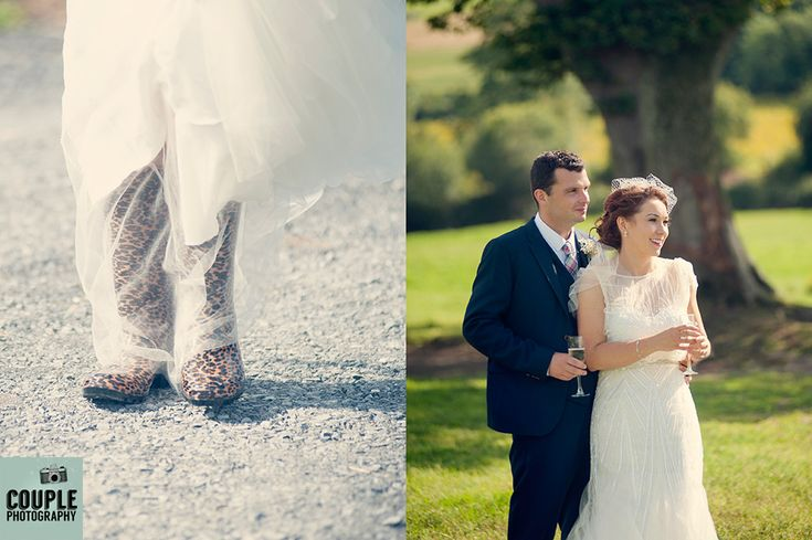 Wellies for the farm. Beautiful couple photo. Irish Marquee wedding photographed by Couple Photography.