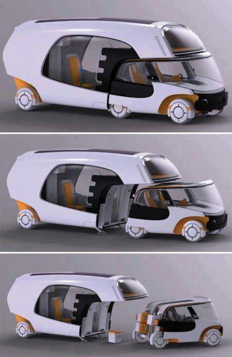RV Concept Car I love the creativity and flexibility of this idea!!!!
