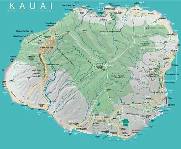 Die Besten 25 Kauai Map Ideen Auf Pinterest Kauai