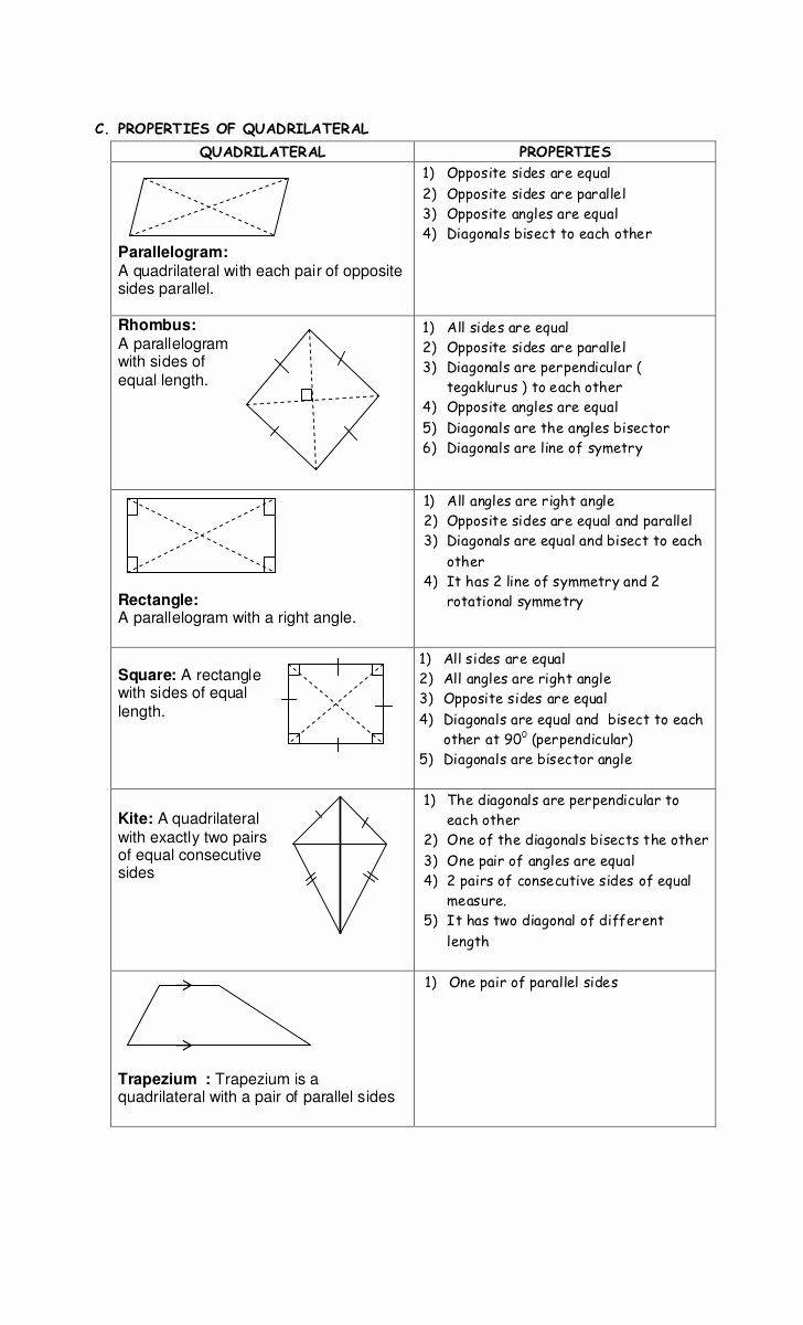 Properties Of Quadrilateral Worksheet Inspirational Diagonals Worksheet Year 6 In 2020 Quadrilaterals Quadrilaterals Worksheet Maths Solutions