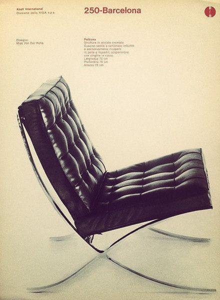 Barcelona Chair:  Ludwig Mies van der Rohe