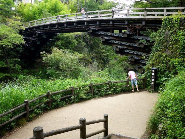 Saruhashi (Monkey Bridge) in Yamanashi - 1300 year old bridge. Worth a visit!