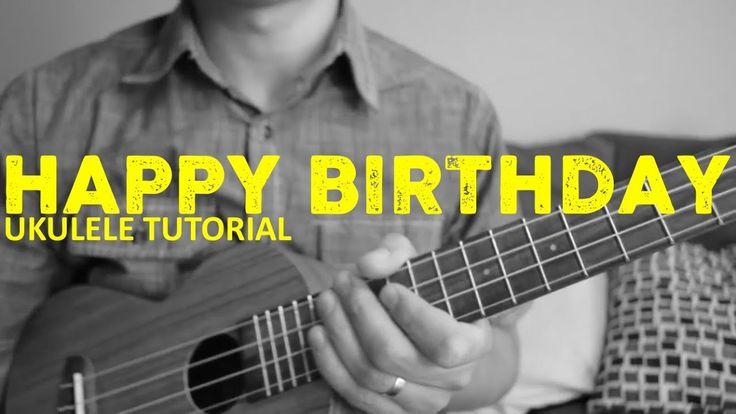 Happy birthday song easy ukulele tutorial chords how