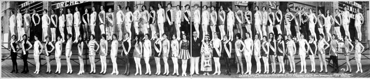 Contestants from the Miss America Beauty Pageant, Atlantic City, 1927