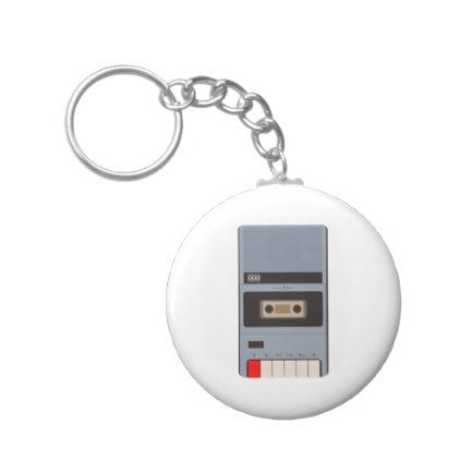 Cassette Tape Recorder Keychain - retro gifts style cyo diy special idea