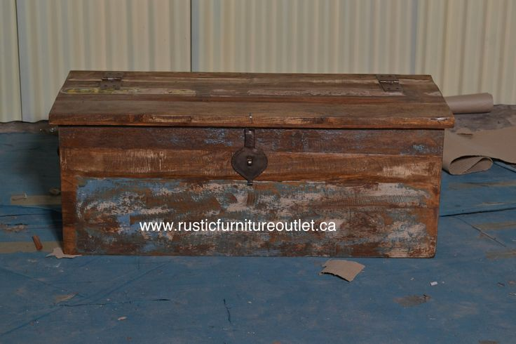 Recycled old trunk  http://www.rusticfurnitureoutlet.ca/recycledwoodfurn.html