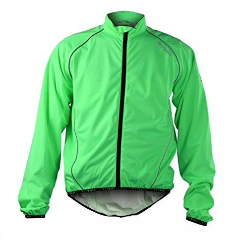 Pitbull Athletics Cycling Equipment Elastic Rainproof Cycling Jacket Spring Autumn Breathable Cycling JerseyGreenXL *** Check this awesome product by going to the link at the image.