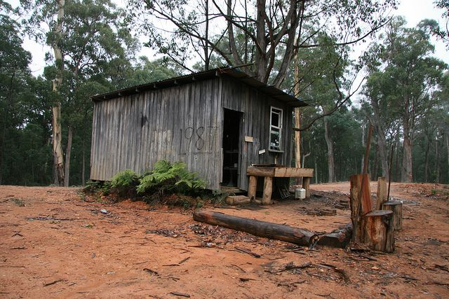 Ryans Spur Hut is located on the Ryans Spur Track between Mt Terrible and Woods Point in NE Victoria.