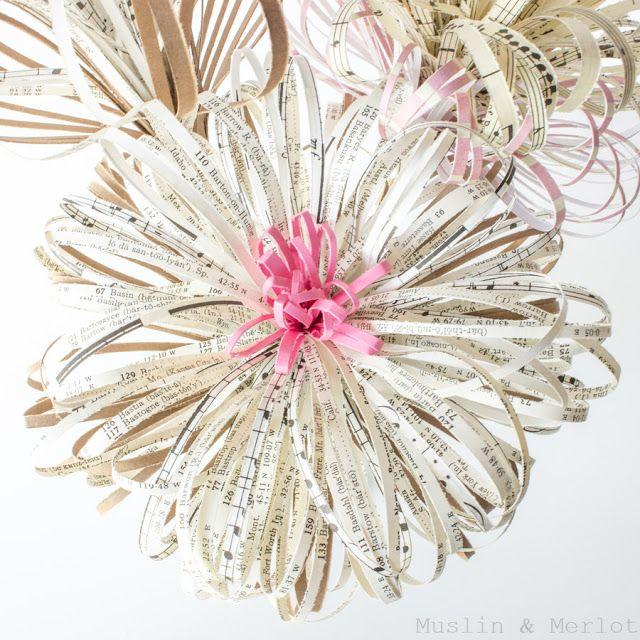 DIY Paper Fireworks Flower Tutorial                                                                                                                                                                                 More