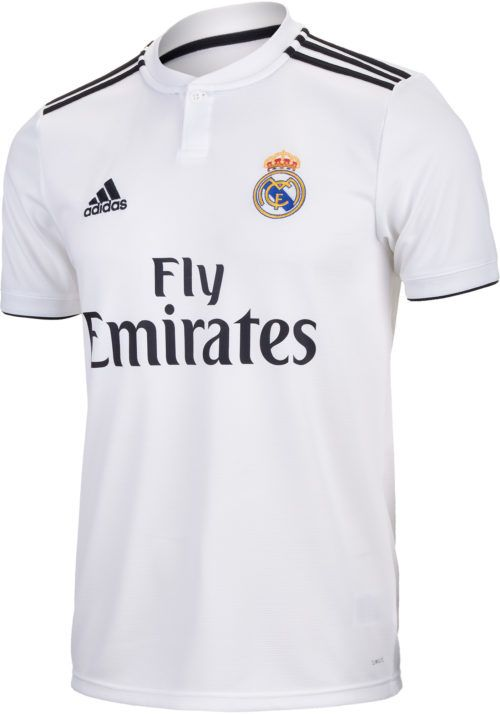 7656f2b7c92c5 2018 19 adidas Real Madrid Youth Home Jersey. Shop for yours from  soccerpro.com