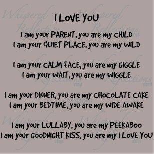 'I love you' poem