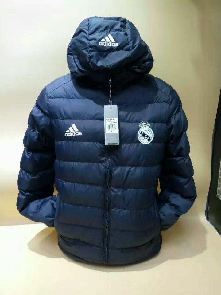 89b6110e516d Real Madrid F.C. Football club 2018 - 19 Adidas Black feather Jacket Cotton  padded coat TOP TRACKSUIT FÚTBOL CALCIO SOCCER CLUB FUSSBALL BNWT