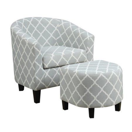 Best Pemberly Row Fabric Accent Chair With Ottoman In Light Blue Chair And Ottoman Set Accent 400 x 300