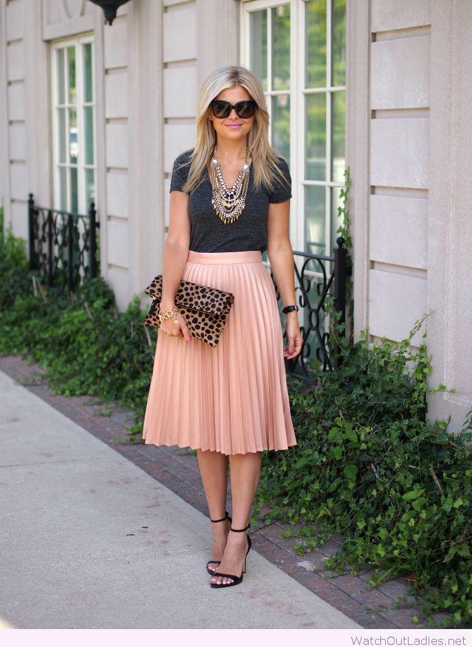 Romantic pleated midi skirt