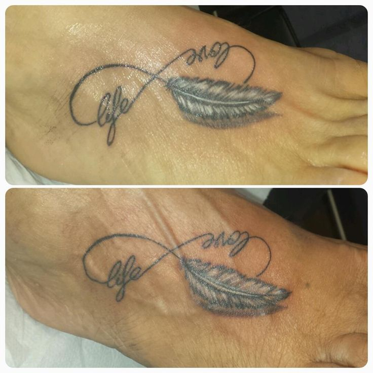 "TripArt Tattoo Studio di tatuaggi a San Marino INFINITO CON PIUMA ""love""&""life"" https://www.facebook.com/tattoo.trip.art/photos/pb.1470842766539300.-2207520000.1441973000./1522172341406342/?type=1"