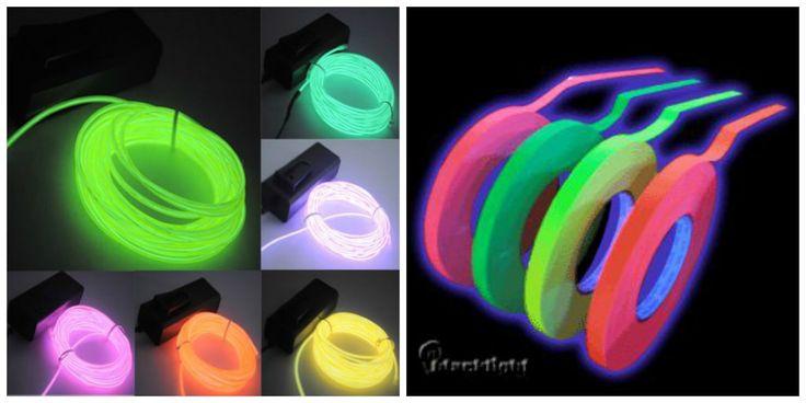 Cinta de neón para seguridad y cable de luz led neón #neon #party #decoration #ideas #decoracion #fiesta #15años #bodas #cumpleaños #birthday