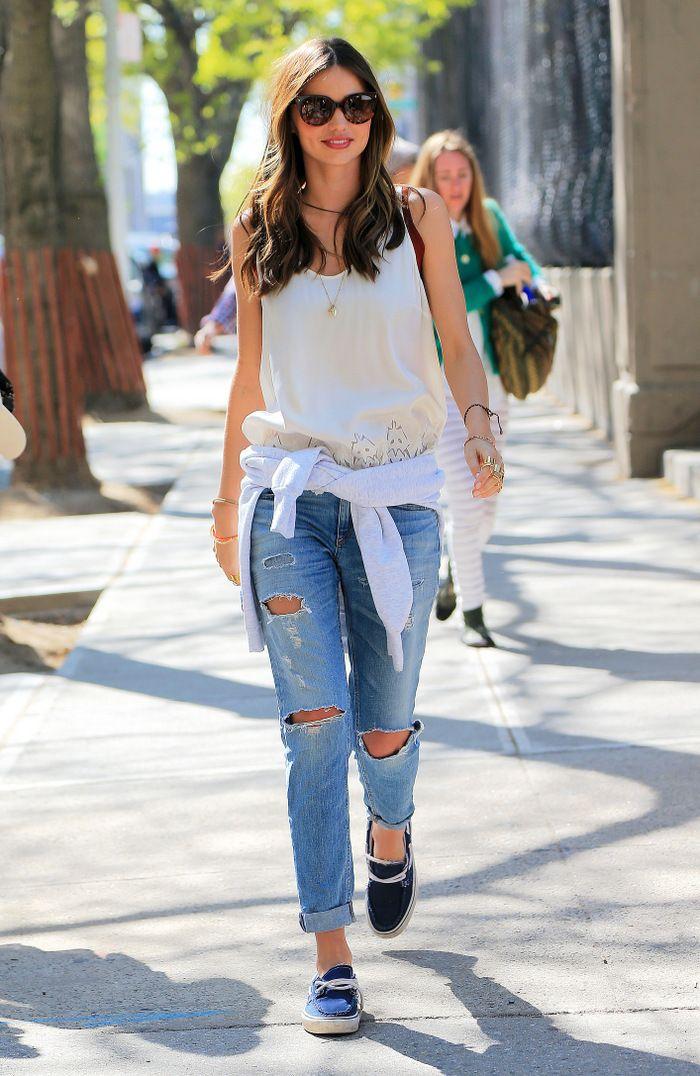 Eucalypt tank outfit idea // studded hearts miranda kerr ripped jeans balenciaga rings