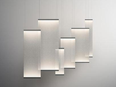 Lámpara colgante LED de tela