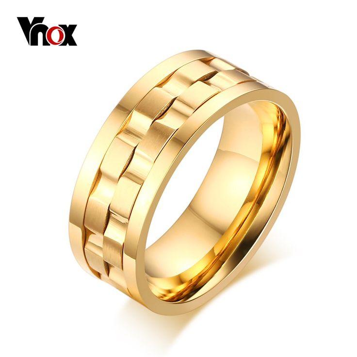 Vnox Spike Rings for Men Rotatable Wedding & Engagement Rings