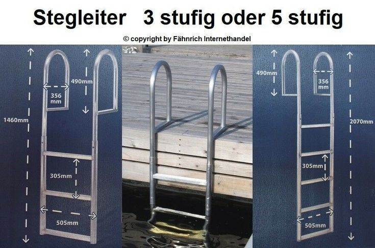 STEGLEITER BADELEITER BOOTSLEITER 3 stufig oder 5 …