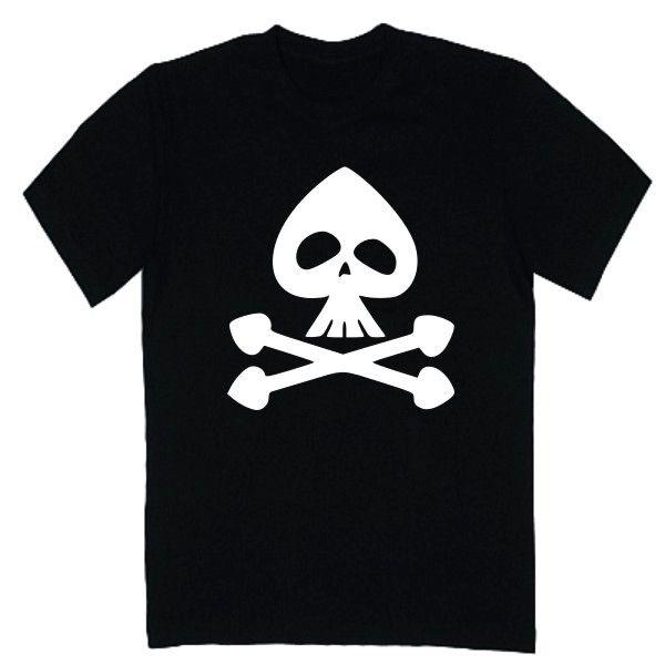 T-shirt męski - czaszka pik z FamilyInBlack.pl
