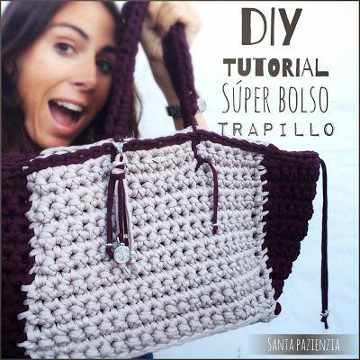 El súper tutorial Foto a Foto que estábais esperando. Cómo hacer un bolsazo de Trapillo / Santa Pazienzia