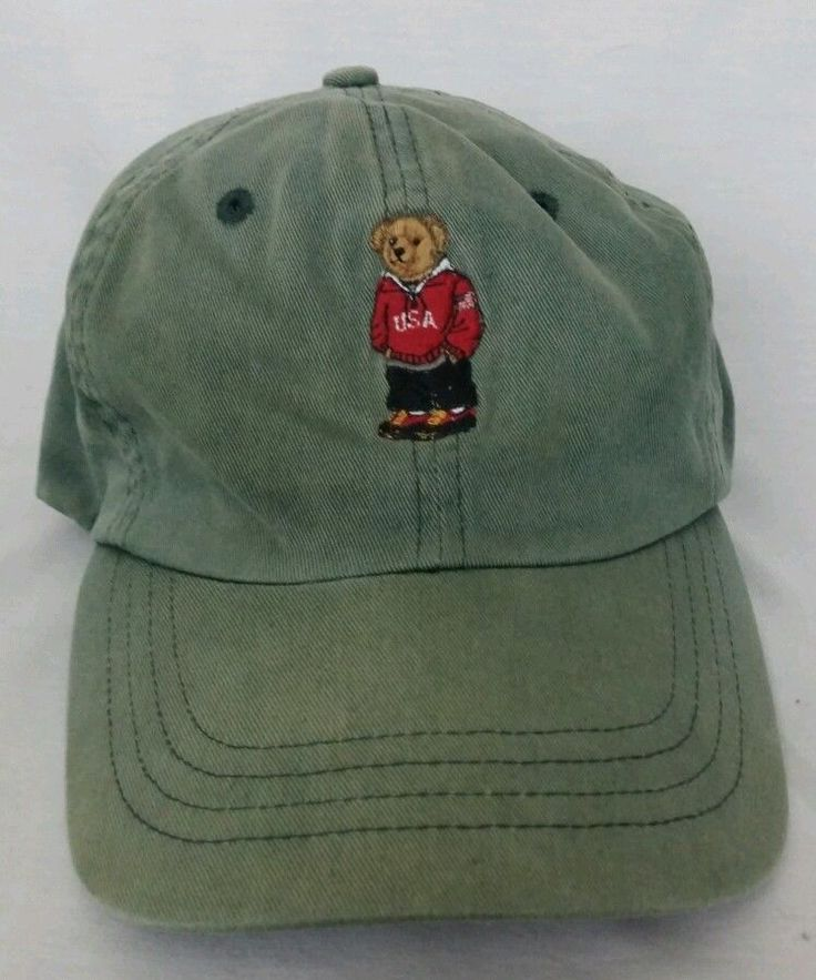 Mens ralph lauren polo bear hat polo sport vintage euc for Polo fishing hat